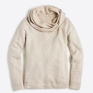 J. Crew Tan Cream Funnelneck Sweatshirt Size M